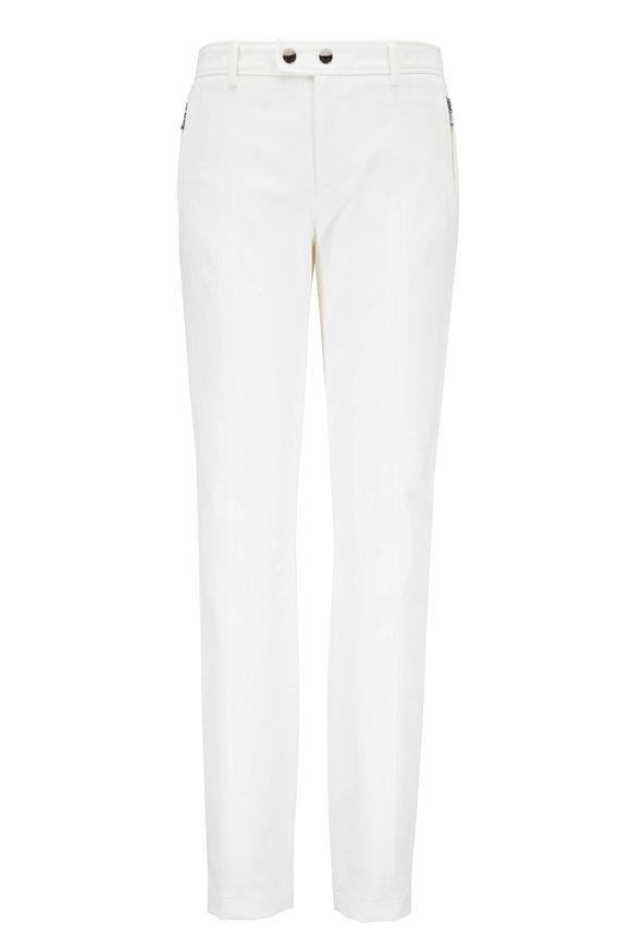 Bogner Lindsey Cream Stretch Cotton Seamed Pant