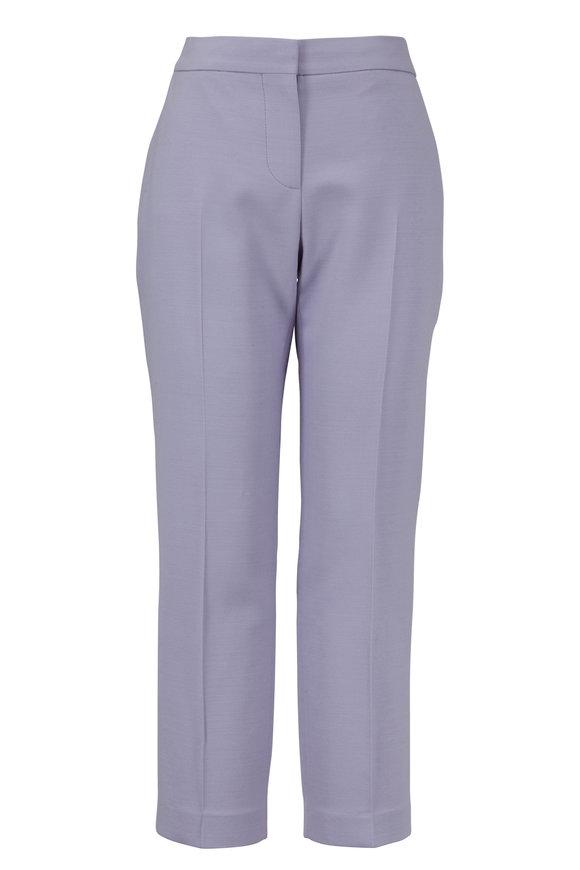 Alexander McQueen Lilac Slim Crop Pant