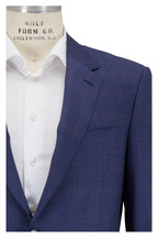 Canali - Medium Blue Plaid Wool Suit