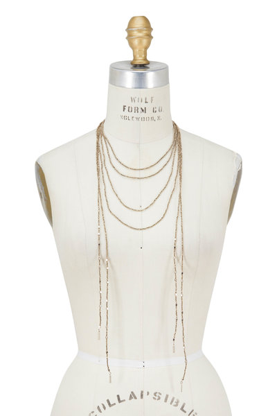 Brunello Cucinelli - Gold Pyrite Multi Strand Necklace