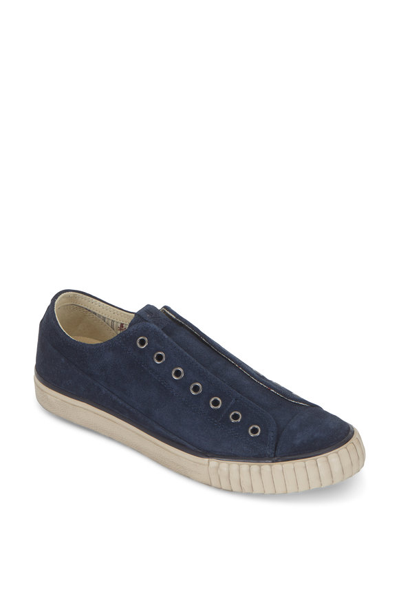 John Varvatos Hay Midnight Washed Suede Sneaker