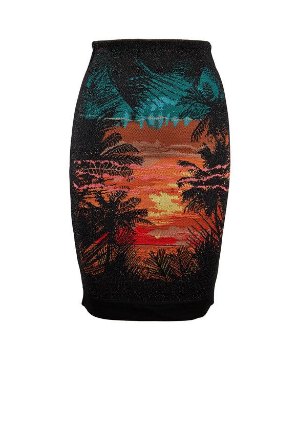 Balmain Black Sunset High-Waist Skirt