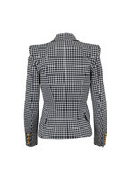 Balmain - Black & White Houndstooth Double-Breasted Jacket