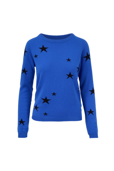Chinti & Parker - Blue & Navy Stars Cashmere Sweater