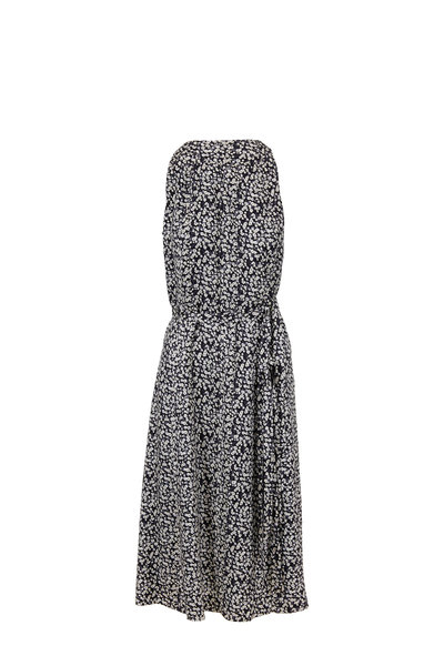 Derek Lam - Black & White Poppy Silk Side Tie Dress