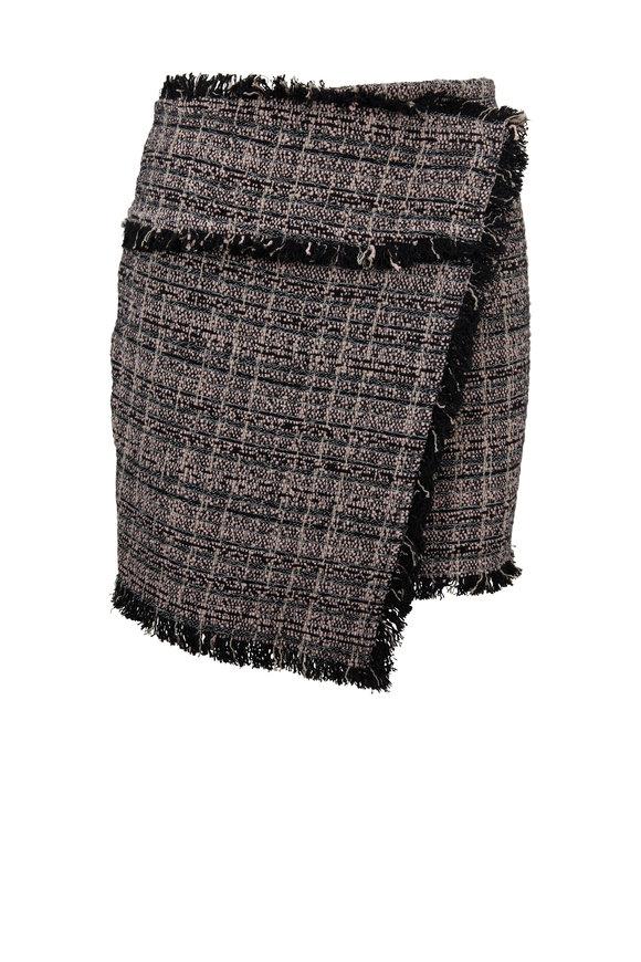 IRO Passionate Pink Woven Tweed Skirt