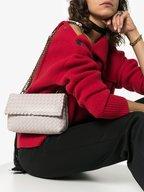 Bottega Veneta - Baby Olimpia Mist Intrecciato Chain Shoulder Bag