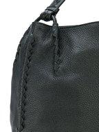 Bottega Veneta - Black Cervo Leather Braided Detail Hobo Bag