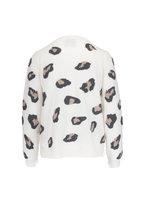 Jumper 1234 - Cream Leopard Cashmere Crewneck Sweater