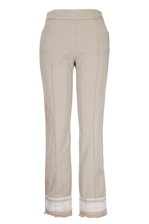 Dorothee Schumacher Casual Freshness Beige Stretch Cotton Slim Pant