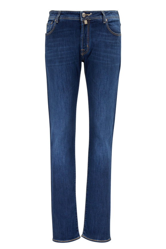 Jacob Cohen  Medium Blue Contrast Stitch Jean