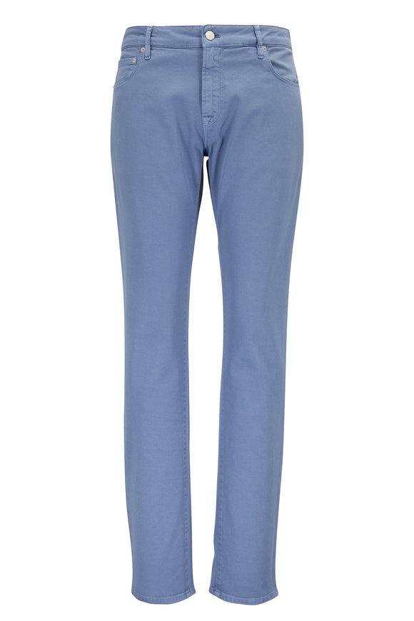 PT Pantaloni Torino Jazz Light Blue Stretch Twill Five Pocket Pant