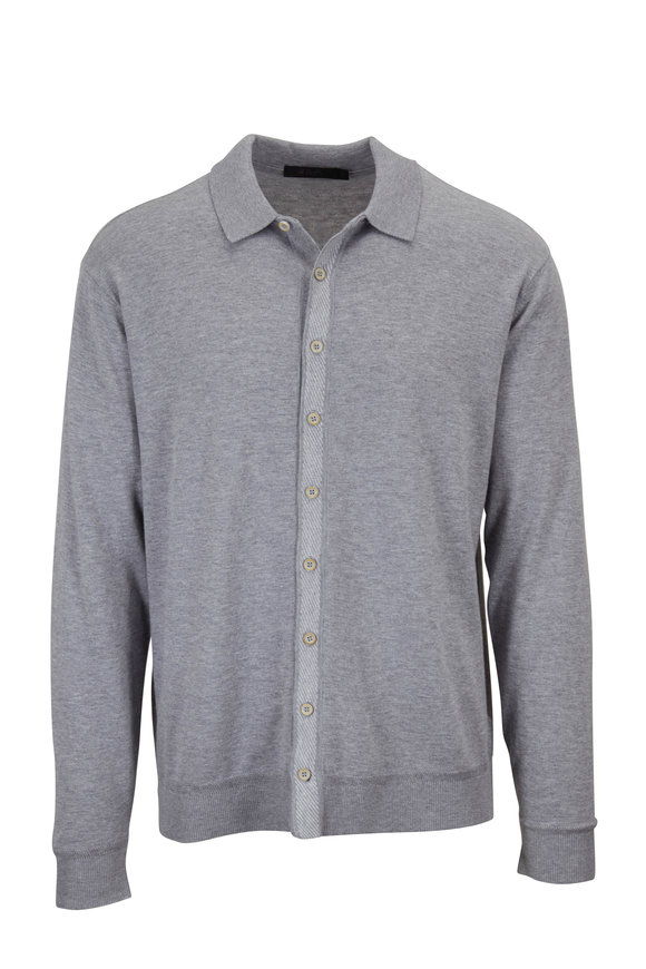 Raffi  Gray Front Button Overshirt