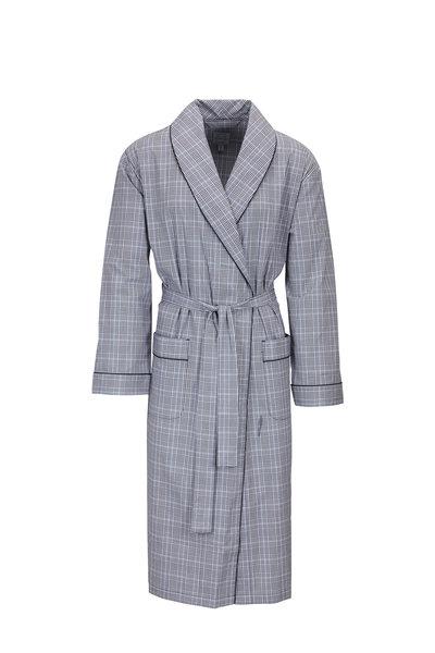 Majestic - Gray Cotton Plaid Robe