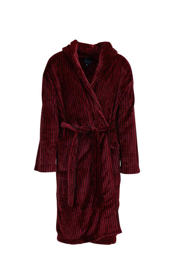 Majestic Red & Black Plush Robe