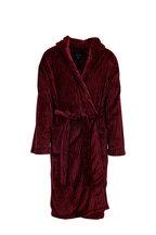 Majestic - Red & Black Plush Robe