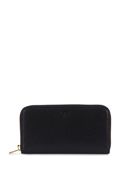 Tom Ford - Black Grained Leather Zip-Around Wallet