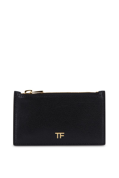 Tom Ford - Black Leather Slim Zip Card Holder