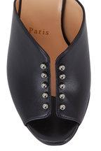 Christian Louboutin - Predumule Black Leather Studded Mule, 85mm