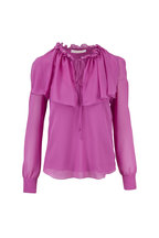 See by Chloé - Striking Purple Keyhole Front Blouse