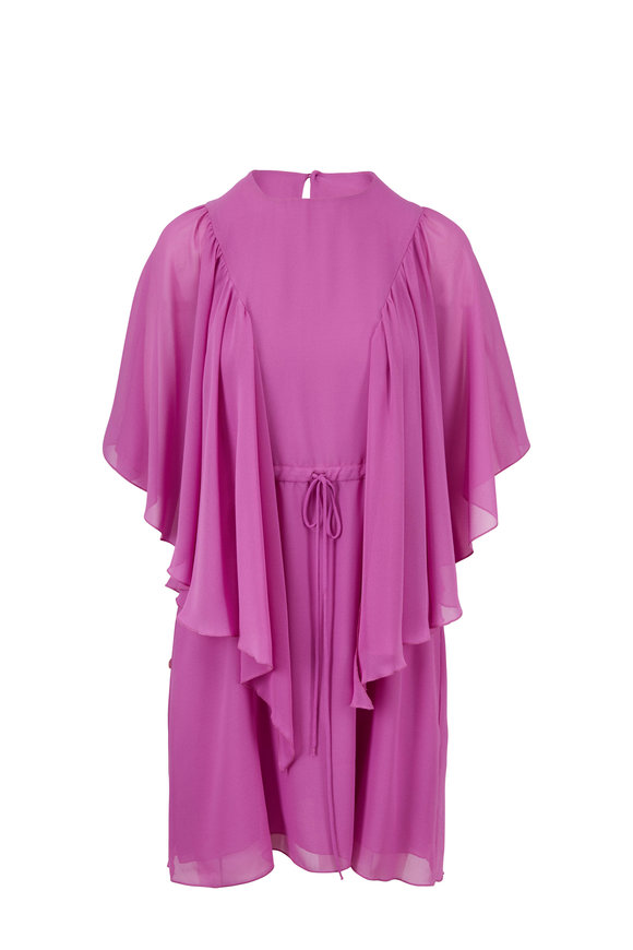 See by Chloé Striking Purple Ruffle Front Dress