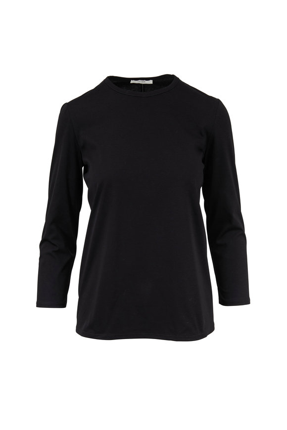 The Row Mave Black Long Sleeve Top