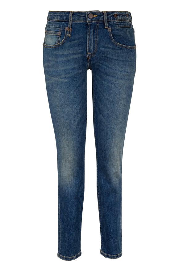 R13 Boy Medium Wash Straight Jean