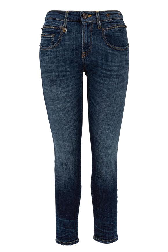 R13 Biker Boy Medium Wash Zip Pocket Jean