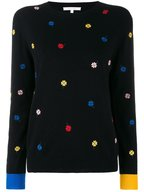 Chinti & Parker - Black Embroidered Magic Clover Sweater