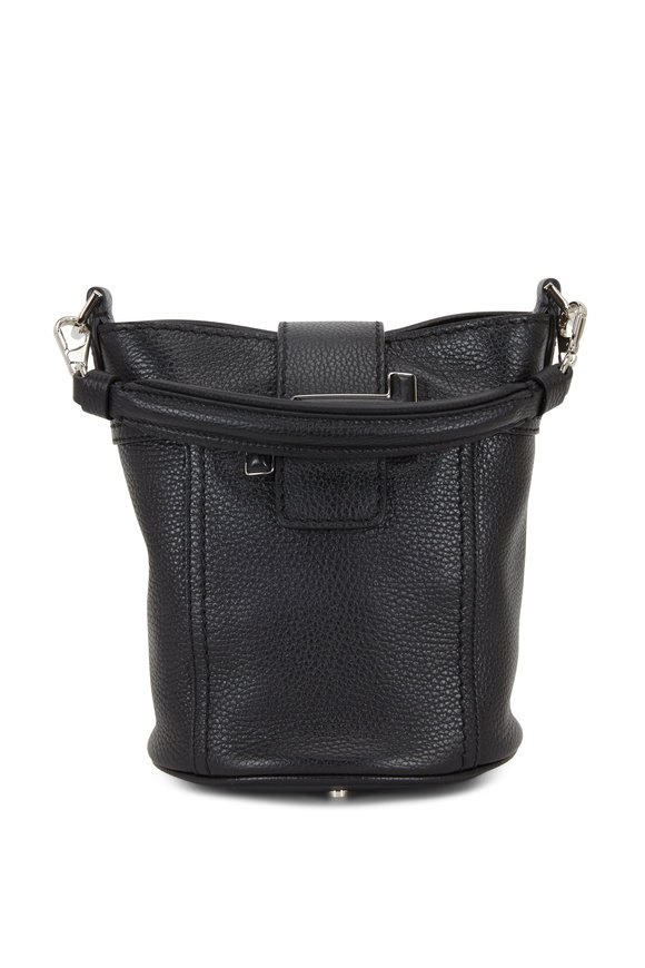 Tod's Double T Black Leather Small Bucket Crossbody Bag