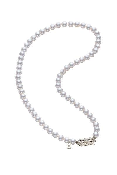 Mikimoto - White Gold Akoya Pearl Necklace