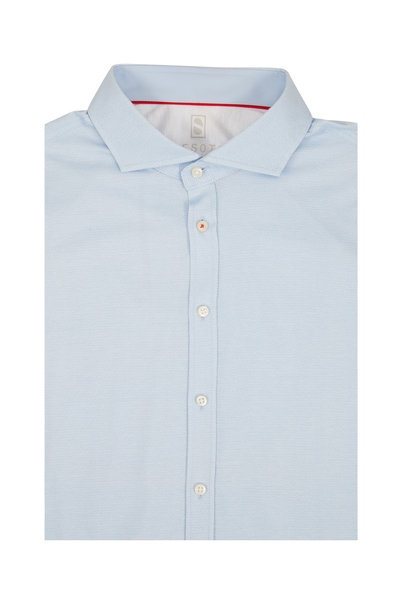 Desoto - Light Blue Mini Geometric Sport Shirt
