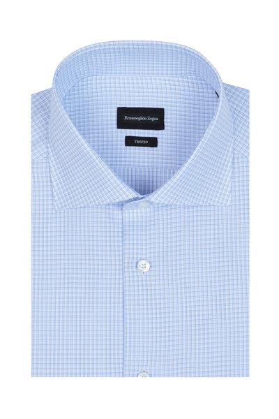Ermenegildo Zegna - Light Blue Check Dress Shirt
