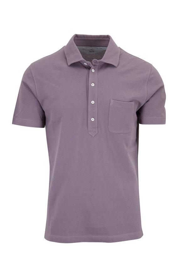 Brunello Cucinelli Purple Piqué Slim Fit Polo