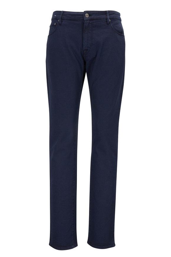 PT Pantaloni Torino Jazz Navy Stretch Cotton Five Pocket Pant