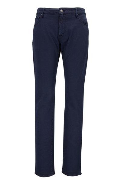 PT Torino - Jazz Navy Stretch Cotton Five Pocket Pant