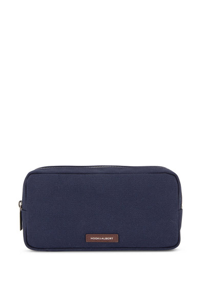 Hook + Albert - Navy Blue Twill Dopp Kit