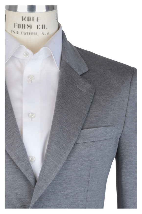 Gray Silk & Cotton Jersey Sportcoat