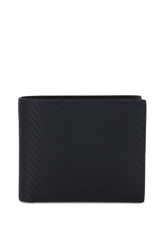 Dunhill Chassi Navy Blue Leather Billfold Wallet