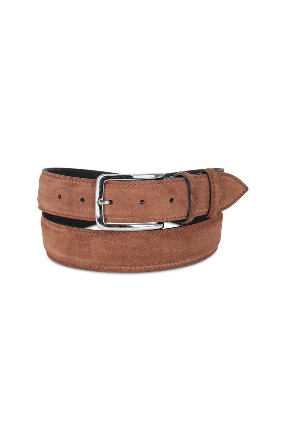 Bontoni Medium Brown Suede Belt