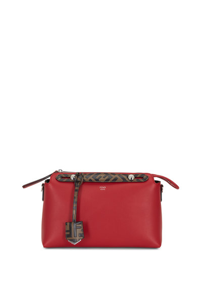 Fendi - By The Way Red Leather Boston Bag