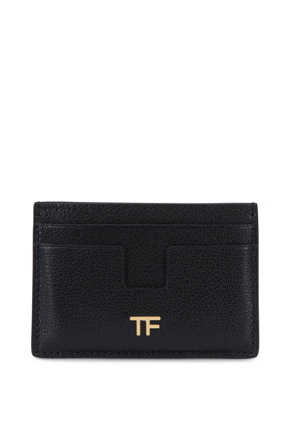 Tom Ford Black Leather Small Slim Card Case