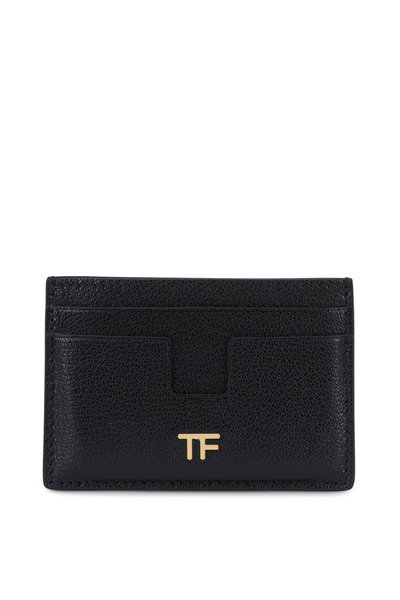 Tom Ford - Black Leather Small Slim Card Case