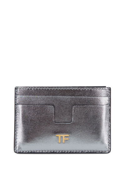 Tom Ford - Silver Leather Small Slim Card Case
