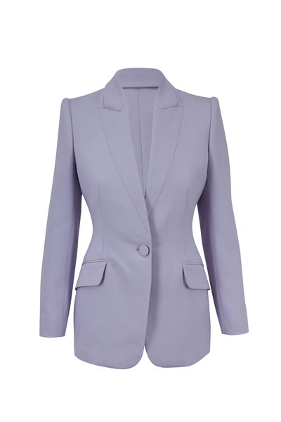 Alexander McQueen - Lilac Wool & Silk Single Button Blazer
