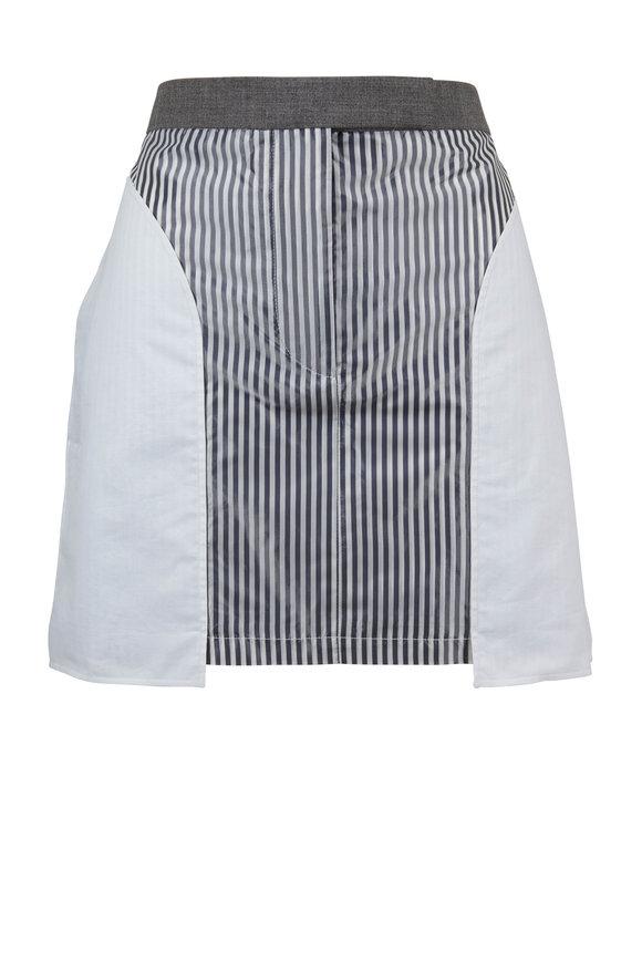 Thom Browne Inside Out Medium Gray Wool Mini Skirt