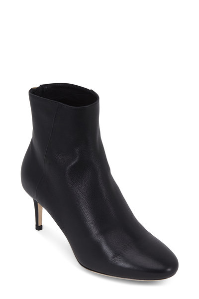 Jimmy Choo - Duke Black Grained Leather Bootie, 65mm