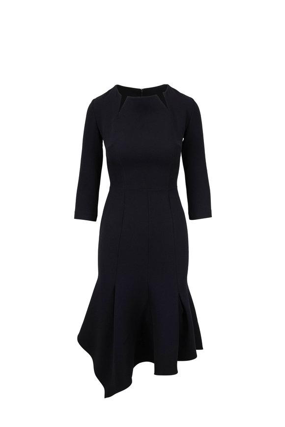 Safiyaa Noelle Black Notched Neckline Dress