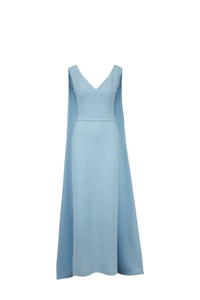 Safiyaa - Cornelia Baby Blue Cape Gown