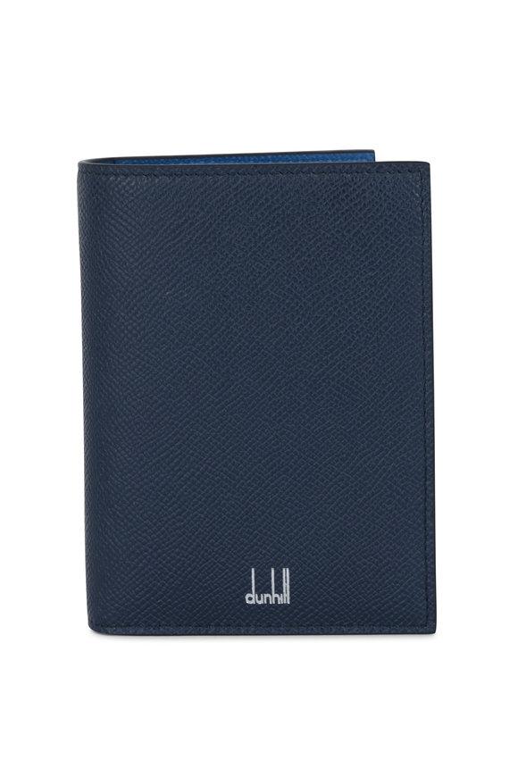 Dunhill Cadogan Navy Blue Leather Passport Holder